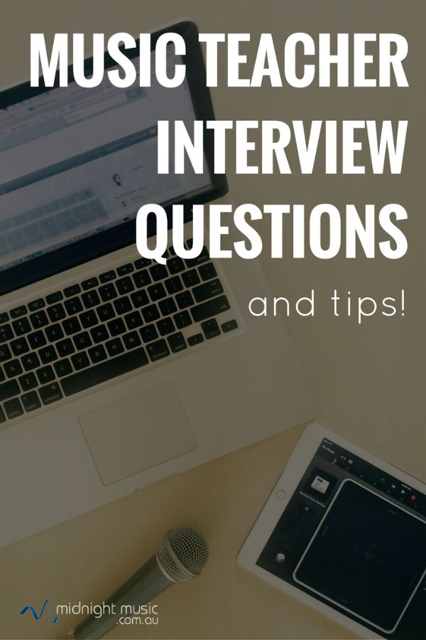 Music teacher interview questions and tips (plus - how to answer the music technology-related questions!) Applying for a music teacher job? Wondering how you should prepare? Nervous about the possible technology-related questions? When applying for a music teacher job it's likely that there will be a question or two related to technology. Some job positions may include a passing reference to technology, but for others it may be a larger focus of the role.  Do you need to be tech-savvy,
