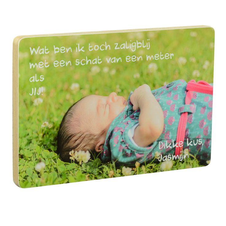 FoTo-Blok met tekst #defotoverij #geboorte #fotoblok