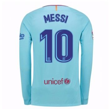 Barcelona Lionel Messi 10 Bortatröja 17-18 Långärmad  #Billiga #fotbollströjor