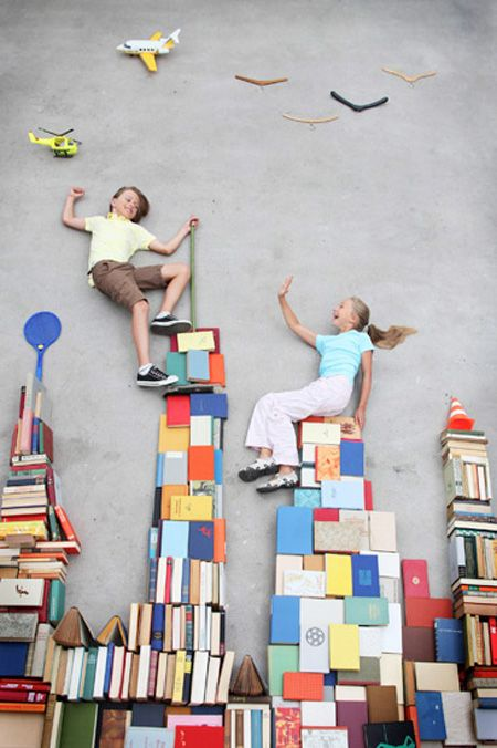 Jan von Holleben features reenactments of adventurous dreams of kids and adults