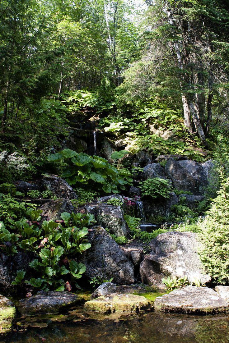 La cascade, jardin de Quatre-vents, la Malbaie, Qc.  Tous droits réservés. Photo: Émilie Lapierre Pintal, 2015.