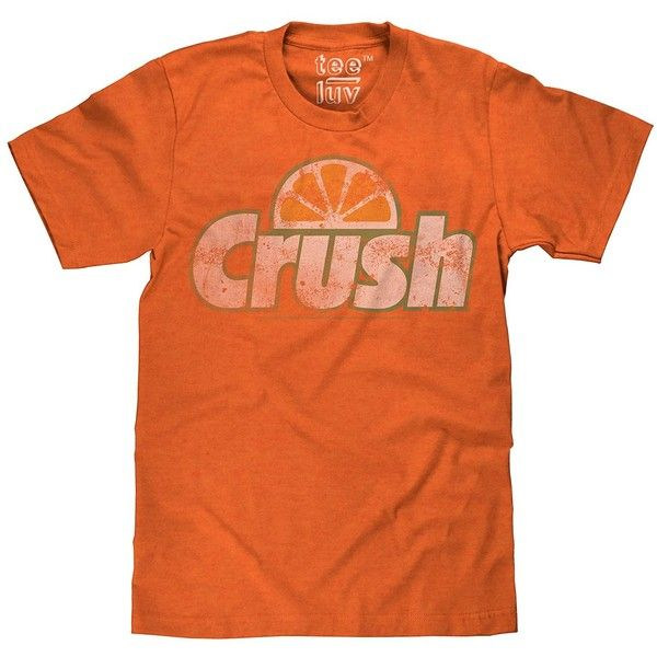 Orange Crush Vintage Licensed T-Shirt Poly Cotton Blend Classic Look ($9) ❤ liked on Polyvore featuring tops, t-shirts, orange t shirt, poly cotton blend t shirts, orange tee, vintage tees and poly cotton t shirts