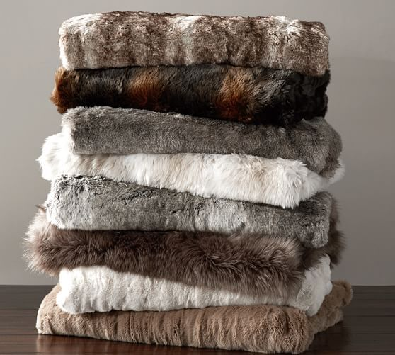Check out the PB Faux Fur Throw with some FREE shipping on the side ;)