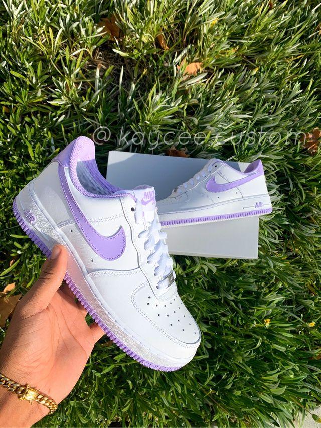 [ART] Lavender Custom Air Force 1 streetwear fashion
