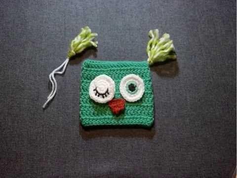 YouTube Square crochet hat diy tutorial