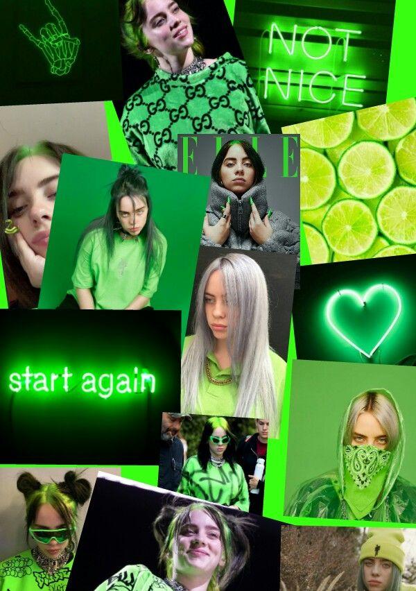 Billie Eilish Green Aesthetic In 2020 Billie Eilish Green Aesthetic Billie