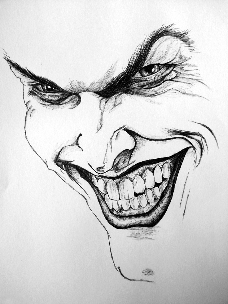 The Joker - completely drawn in Biro (first attempt at a biro drawing!)