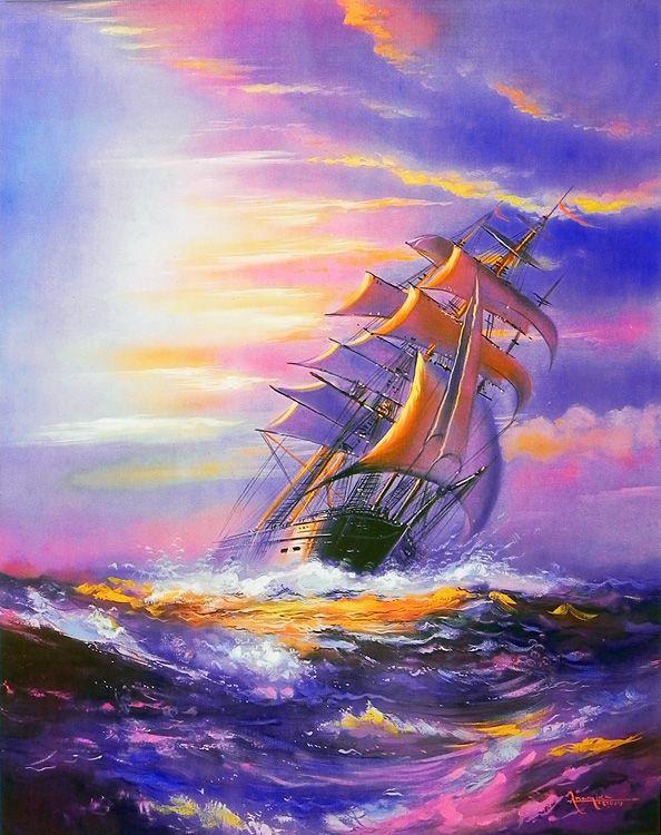 Battling the High Seas (Reprint on Paper - Unframed)
