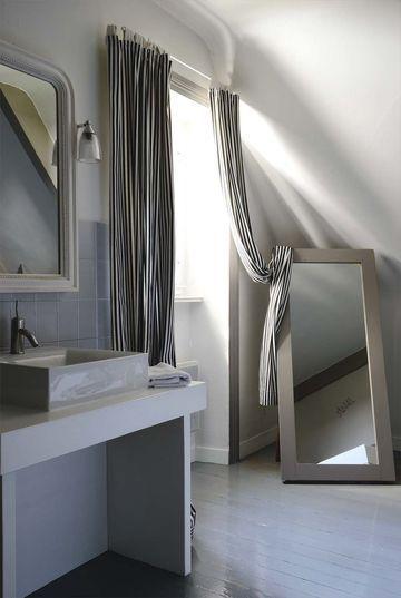22 best salle de bain bas images on Pinterest Bathroom, Appliques - peindre plafond salle de bain