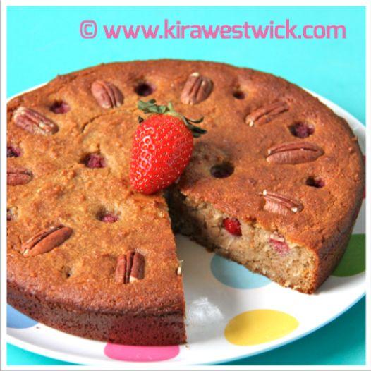 Banana Berry Cake @ kirawestwick.com