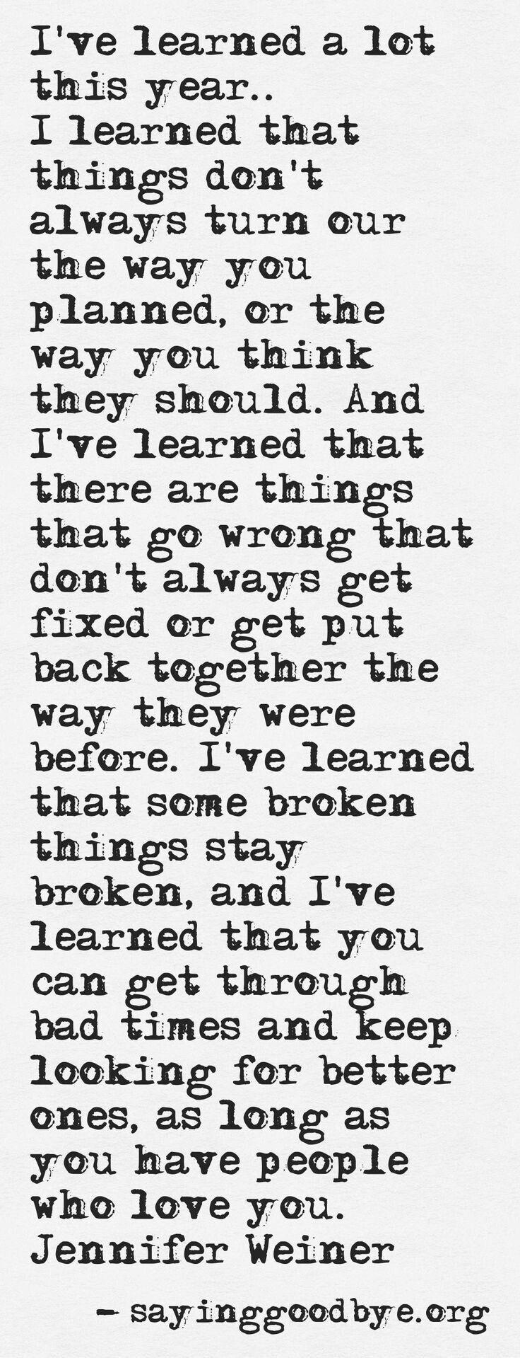 Still learning so much