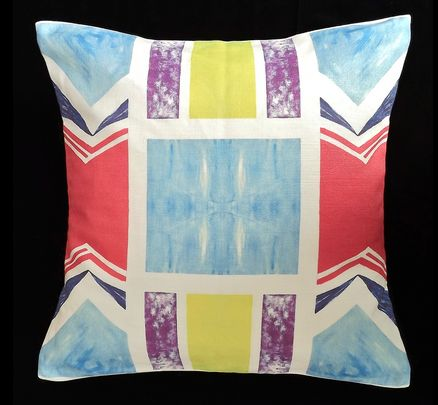 Cushion cover by PaabsPrints - a splash of colour