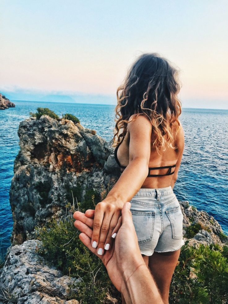 couple travelling together Agiofili Beach Lefkada Greece