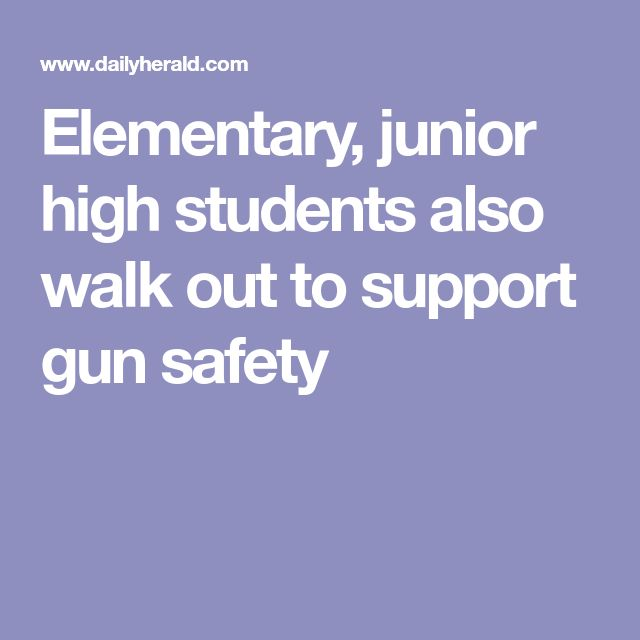 Elementary, junior high students also walk out to support gun safety