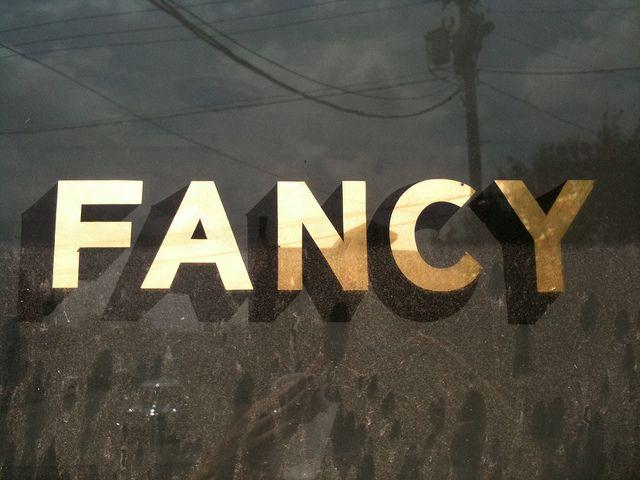 gold foil lettering / window