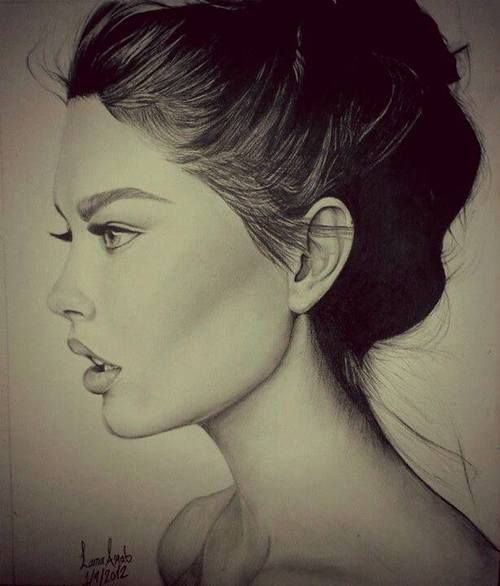 pencil sketch, excellent work on the hairline
