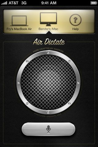 Air DictateAppdesign, Ui Design, Iphone App, Dictator App, Mobiles Ui, App Interface, Air Dictator, App Inspiration, App Design