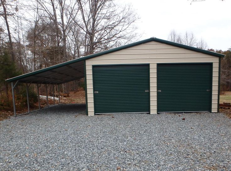 Best Vertical Roof Garage With 12'W Lean To Shed Plans Metal 400 x 300