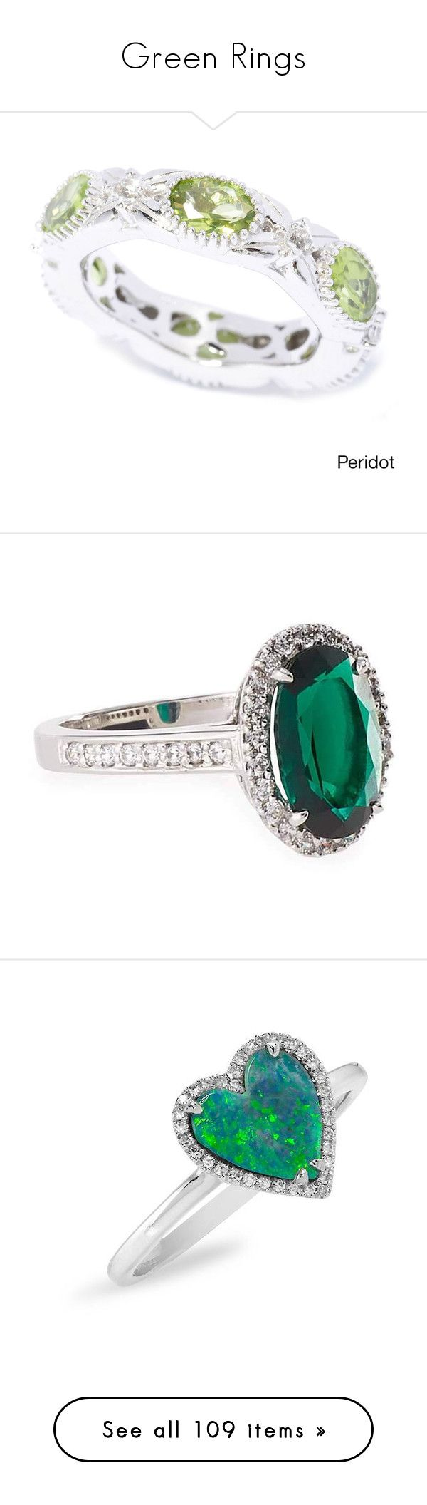 """Green Rings"" by melzy ❤ liked on Polyvore featuring GREEN, rings, emerald, peridot, men's fashion, men's jewelry, men's rings, green, mens green ring and mens wide band rings"