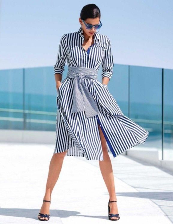 Robe Marine Blanc Bleu Blanc Madeleine Robes A Rayures Bleues Tenue Robe Chemise Robes A Rayures Marine