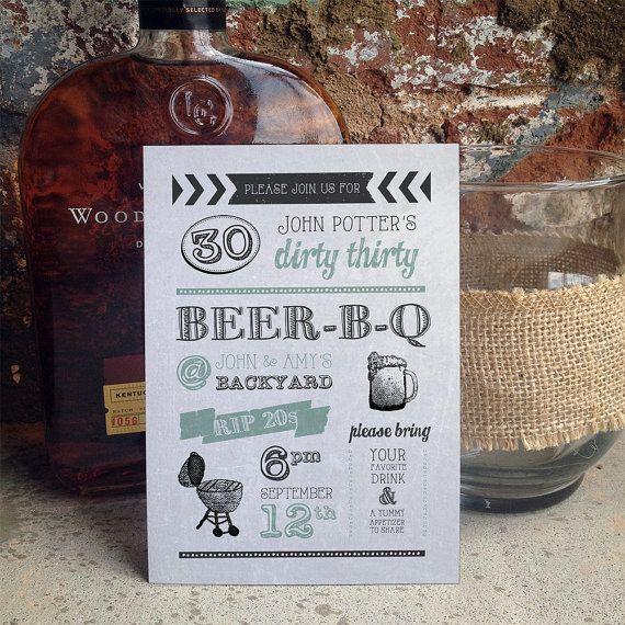 Best Birthday Invitations Images On Pinterest Birthday Party - Birthday invitation 30 years old