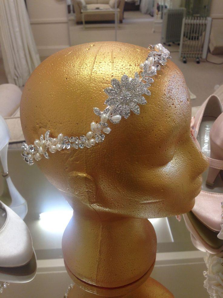Crystal & Pearl Hair Vine