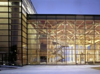 Sibelius Hall - wooden congress and concert hall in Lahti, Finland