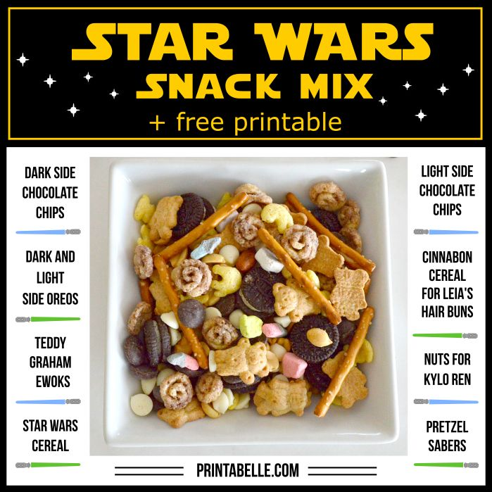 Star Wars Snack Mix (with Free Printable!)