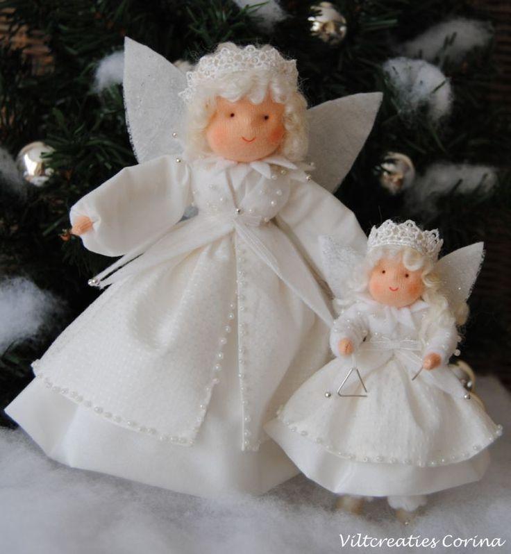 Viltcreaties Corina: Kerst engeltjes!