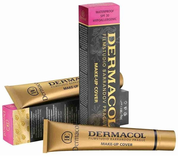 The clinically tested, extreme covering Make up Cover was created as the first of its kind in Europe and one of the first in the world. The license for this foundation was eventually sold to Hollywood. It contains 50% pigments, which makes it a weapon against skin imperfections. DERMACOL MAKE-UP COVER provides PERFECT COVERAGE even in thin layers and is the perfect corrector for dark under-eye, unpleasant spots and skin blemishes. It completely covers acne, loss of pigmentation, post…