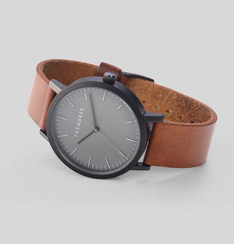 Matte Black / Tan Leather