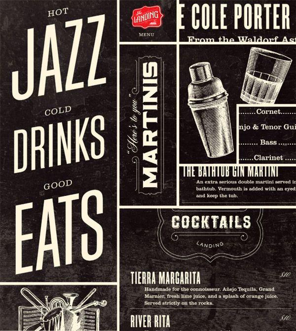 new identity for an awesome looking jazz bar via Jamie Stolarski