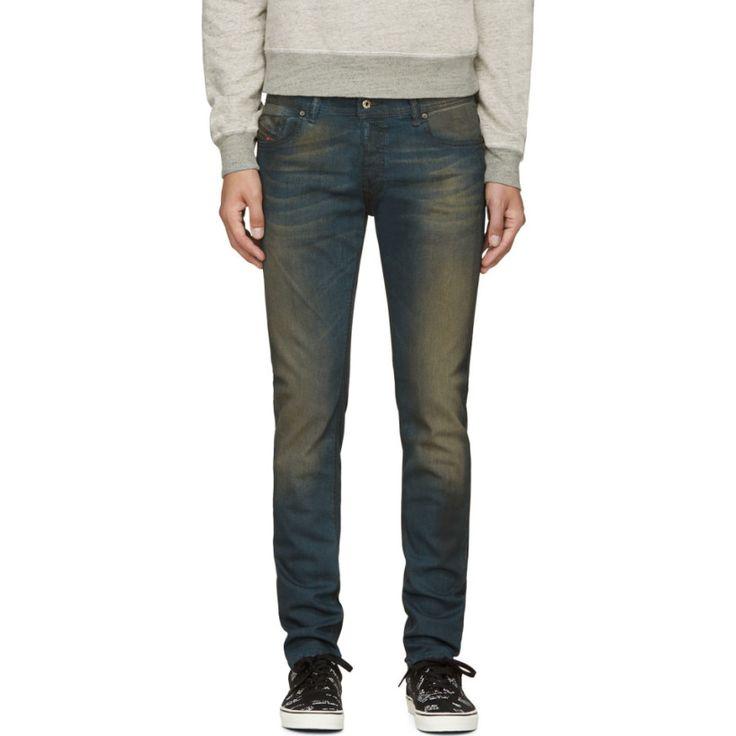 Diesel Deep Blue Faded Sleenker Jeans