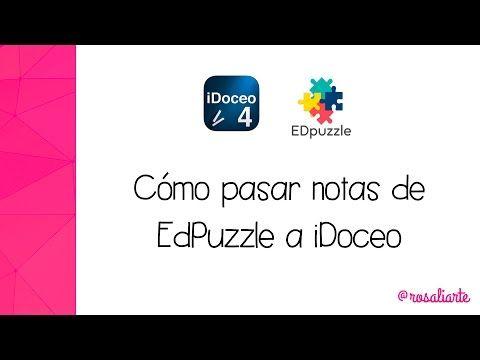 Cómo pasar notas de EdPuzzle a iDoceo para iPad