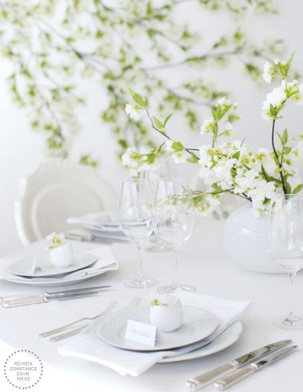decoracao casamento japones:Decoração de casamento em estilo minimalista toda em branco com ar