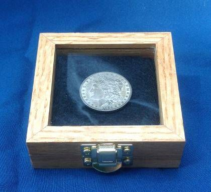 Usa Made Beautiful Challenge Coin Display Box Also Great For Silver Dollars And Other Collectible Coins Displays Pinterest
