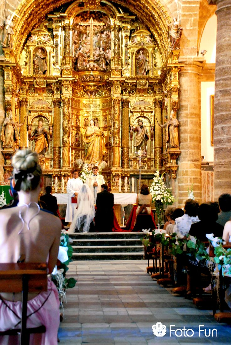 Wedding celebration in Spanish church