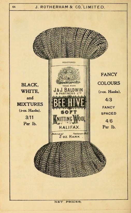 vintage knitting wool