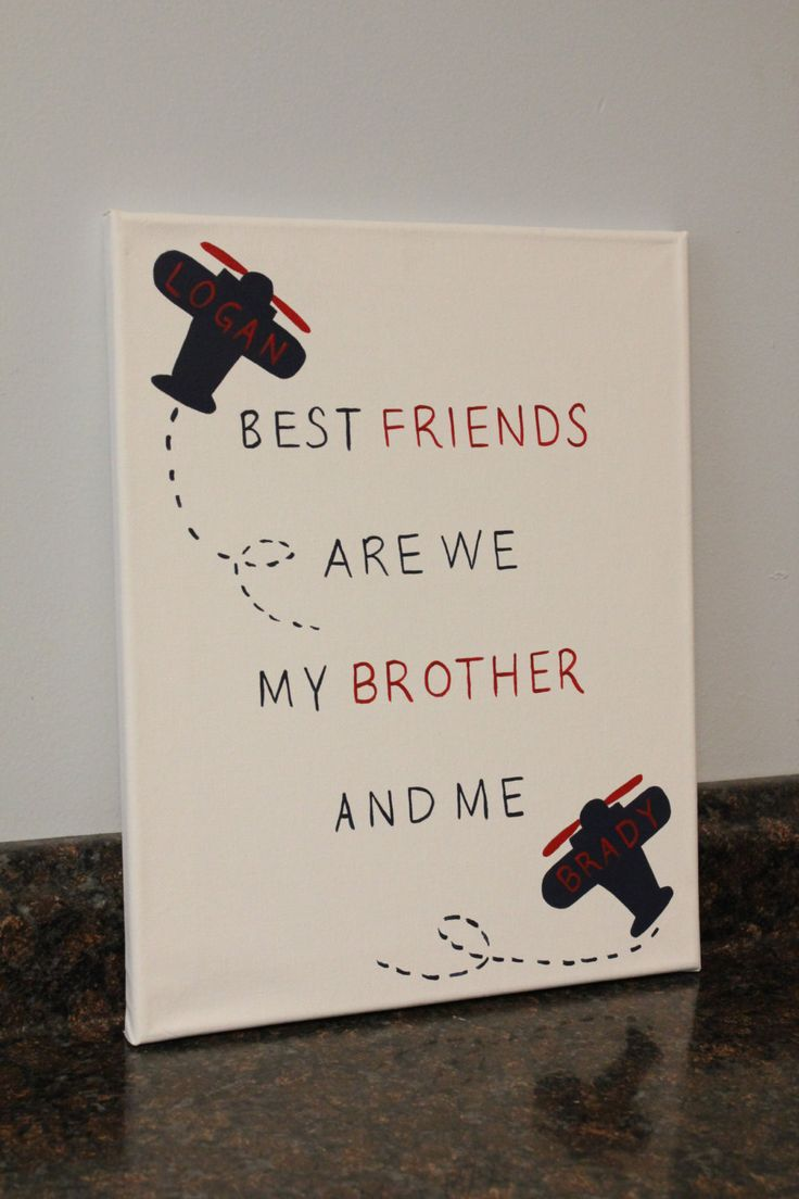 airplane nursery brother bedroom wall art best friends are we my brother and me brother sayings twin boys airplane wall art boys room decor by JessieAnnCreations on Etsy