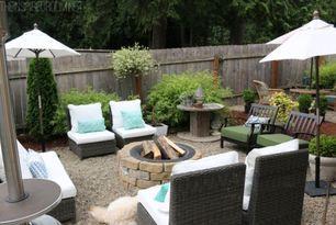 My Backyard Tour {Pea Gravel Patios, Flagstone & Secret Garden}