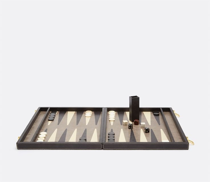 Pigeon & Poodle Grantham Backgammon Game Set in Grey from The Well Appointed House