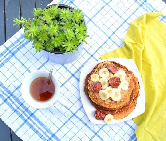 pancake-coco-banane-beurre-de-cacahuetes-vegetarien vegan