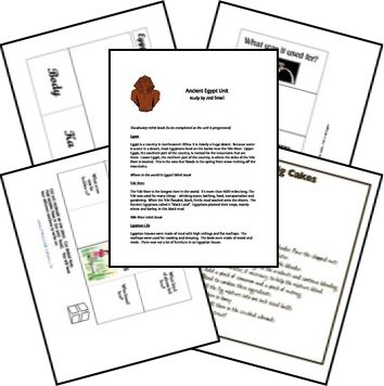 FREE Ancient Egypt Unit Study and Lapbook @HomeschoolShare.com