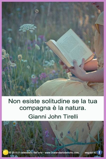 Non esiste solitudine se la tua compagna e la natura. Giani John Tirelli