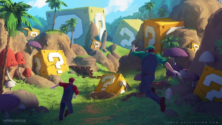 Mario Bros : The Lost World concept art by Tohad.deviantart.com on @DeviantArt