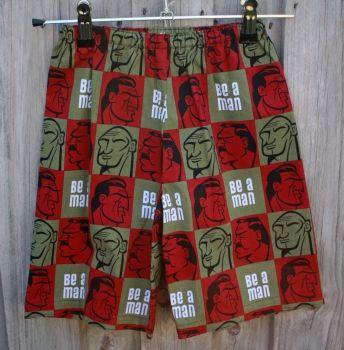 Babes & Tots Designs | Children | Clothing | Boys handmade shorts - Be a Man - Handmade Emporium