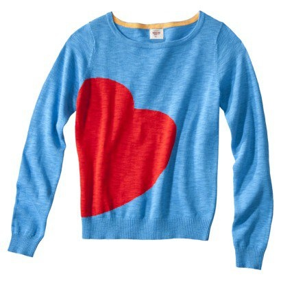 Mossimo Supply Co. Juniors Long Sleeve Heart Sweater - Blue: Heart Sweaters, Fashion, Sleeve Heart, Mossimo Supplies, Target, Pullover Sweaters, Long Sleeve, Styles, Junior Long
