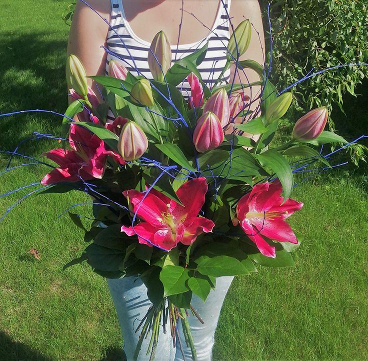Prekrásne kráľovské voňavé ľalie #lilium #beautifulflowers #bouquet #pinklilium #superise #slovakia #kvetyexpres