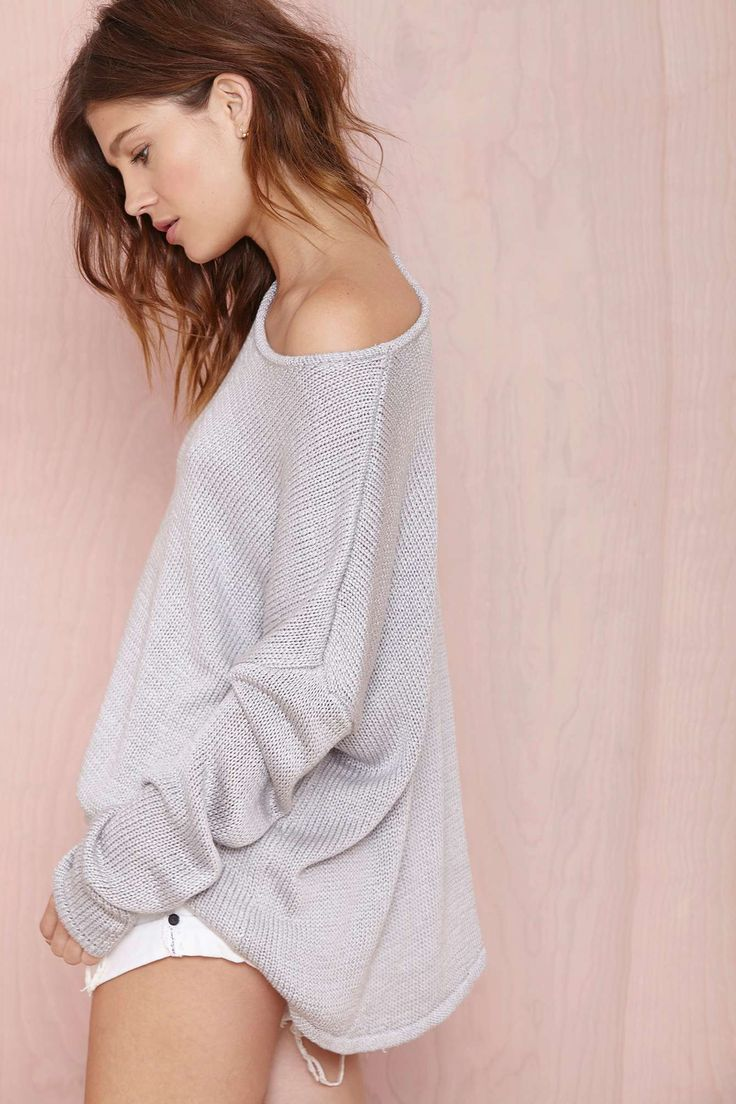 Grey Sweater   Nasty Gal