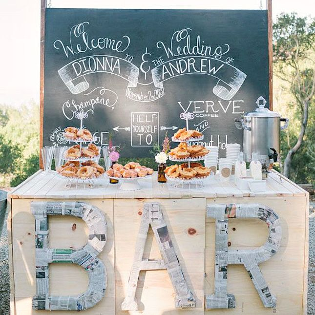 14 Creative Wedding Buffets to Save Your Budget via Brit + Co.